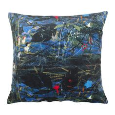 IKEA - AVSIKTLIG, Cushion, Cotton velvet gives depth to the color and is soft to the touch.The duck feather filling feels fluffy and gives your body excellent support.The zipper makes the cover easy to remove.