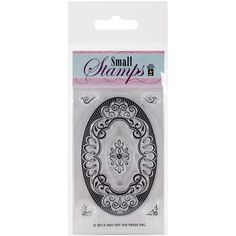 """Hot Off The Press Acrylic Stamps 2.5""""X5.5"""" Sheet-Small Label #HotOffThePress"""