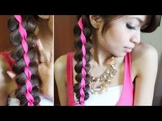 The Four Strand Braid Using A Ribbon - AllDayChic