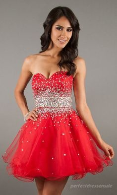 Natural Red Prom Dresses Short Baby doll Prom Dresses 07344