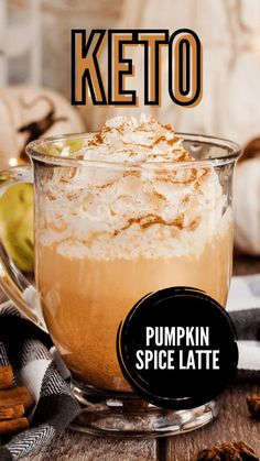 Keto Snacks, Keto Diet Drinks, Low Carb Drinks, Keto Drink, Keto Smoothie Recipes, Easy Snacks, Keto Coffee Recipe, Coffee Recipes, Pumpkin Spice Latte
