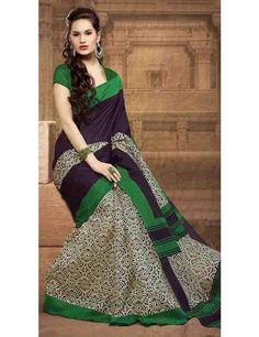 Inspiration Black Bhagalpuri Silk Saree
