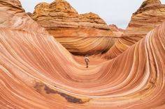 自然が造ったアート「ザ・ウェーブ」(米国・アリゾナ州)