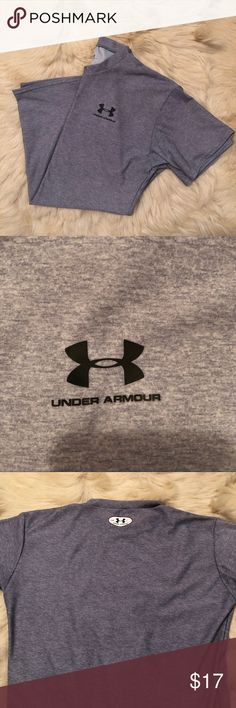 Under armour shirt Under armour shirt size large. I don't quite understand this shirt. It is a thin material so not sure what it is used for. Maybe just a layering shirt but it was too tight and too thin for my husband. It is in perfect condition though Under Armour Shirts Tees - Short Sleeve