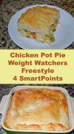Chicken Pot Pie Weight Watchers FreeStyle 4 SmartPoints is part of pizza - 4 of the pie Yes! (But feel free to make this 8 servings for just 2 SmartPoints per serving ) This pot pie is made with the very popular two ingredient dough Weight Watchers Casserole, Poulet Weight Watchers, Plats Weight Watchers, Weight Watchers Diet, Weight Watcher Dinners, Weight Watchers Smart Points, Weight Watchers Chicken, Weight Watchers Recipes With Smartpoints, Weight Watcher Recipes