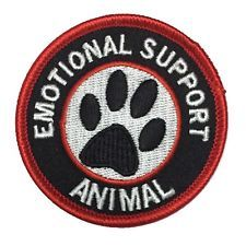 emotional support animal patch | for dogs, cats and more - eBay