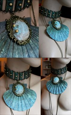 Mermaid Necklace by Pinkabsinthe