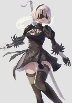 NieR:Automata by 絵馬 Kawaii Anime Girl, Anime Art Girl, Manga Girl, Nier Automata 2, Drakengard Nier, Character Art, Character Design, Steampunk Costume, Girls Gallery