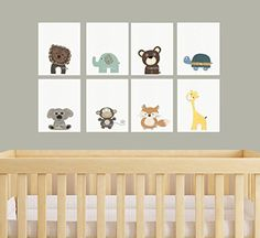 DesignByMaya Baby Animal Nursery Art Nursery Prints Zoo Nursery Wall Art Baby Wall Art Gender Neutral Nursery Decor Baby Girl Baby Boy Baby Gift *** To view further for this item, visit the image link.