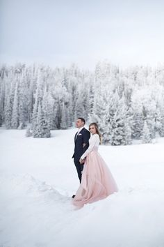 Snow Covered Winter Bridals — Tyler Rye Photographer
