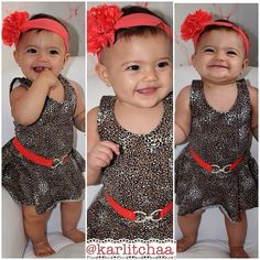 Baby girl one day Cute Outfits For Kids, Toddler Outfits, Cute Kids, Cute Baby Girl, Cute Babies, Baby Girl Fashion, Kids Fashion, Rock Baby Showers, Little Girl Swag