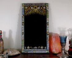 Artisan crafted spiritual wares, jewelry & art by MorrigusNest Celtic Goddess, Unique Mirrors, Wicca Witchcraft, Triple Goddess, Beltane, Black Mirror, Blue Glitter, Black Glass, Seashells