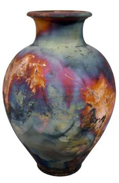 Glaze same as the others: colorful.  what is raku?