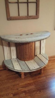 Super old wood table ideas cable spools ideas