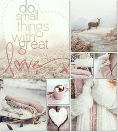 Do small things with great love collage inspiration Collages, Mood Colors, Color Collage, Beautiful Collage, Photo Images, My Funny Valentine, Valentines, Colour Board, Great Love