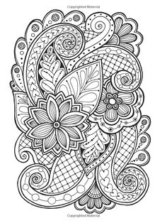 Doodle background in vector with doodles, flowers and paisley. Vector ethnic pattern can be used for wallpaper, pattern fills, coloring books and pages for kids and adults. Black and white. Pattern Coloring Pages, Adult Coloring Book Pages, Cute Coloring Pages, Flower Coloring Pages, Mandala Coloring Pages, Printable Coloring Pages, Coloring Books, Abstract Coloring Pages, Paisley Coloring Pages