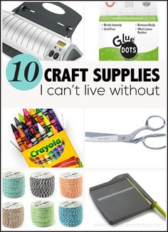 Check out the 10 must have craft supplies to make super fun projects all year long. :)
