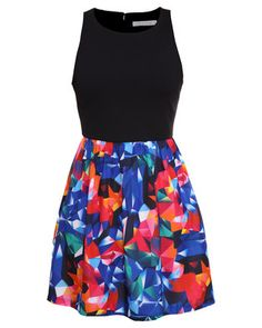 Sass designed this bold and fresh number. I think this can brighten up any work-day, and seems simple enough to mimic