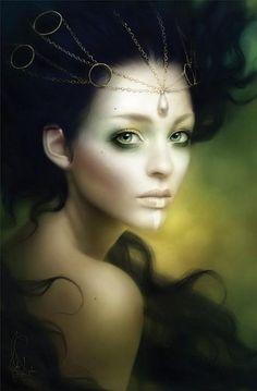 Fantasy Women, Dark Fantasy, Digital Portrait, Digital Art, Illustrations, Illustration Art, Melanie Delon, Stephen Mackey, Painting & Drawing