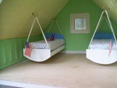 Dollhouse Swinging Beds Photo: This Photo was uploaded by BeautifulMiniBlessings. Find other Dollhouse Swinging Beds pictures and photos or upload your . Barbie Doll House, Barbie Dream House, Miniature Furniture, Dollhouse Furniture, Diy Dollhouse, Dollhouse Miniatures, Barbie Bedroom, Diy Barbie Furniture, Doll House Plans