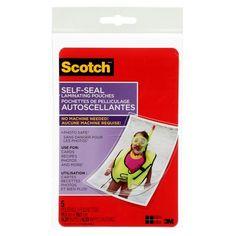 Scotch® Self-Sealing Laminating Pouch, 11.43 cm x 16.51 cm