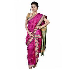 Saj Readymade Designer Peshwai Nauvari Saree - Magenta Color SAJ http://www.amazon.in/dp/B013SGAFSY/ref=cm_sw_r_pi_dp_FEG1vb1DADQP9