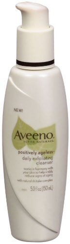 Aveeno Active Naturals Positively Ageless Daily Exfoliating Cleanser With Natural Shiitake Complex, 5-Ounce Bottle. #beauty, #make up, #face, #clean
