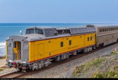You never know what you'll run across on a sunny fall day. Union Pacific Mobile Lab brings up the rear of the northbound Coast Starlight.