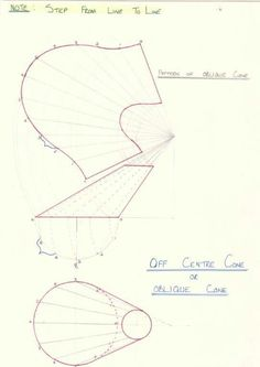 Oblique Cone (Off Centre Cone) -Radial Line method Sheet Metal Drawing, Sheet Metal Work, Metal Bending Tools, Metal Working Tools, Welding Art, Welding Projects, Oblique Drawing, Geometry Formulas, Mechanical Engineering Design