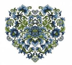 Схема Цветочное сердце