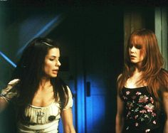 """Sally and Gillian Owens - Sandra Bullock & Nicole Kidman from the film """"Practical Magic"""" Anne Hathaway, Sandra Bullock Nicole Kidman, Sandro, Practical Magic Movie, Magic House, Witch Aesthetic, Great Movies, Red Hair, Hair Cut"""