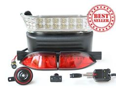 Street Legal Halogen/LED Light Kit for ALL Club Car Precedent Golf Carts | Free Shipping | Shop Now!
