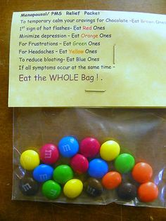 Menopausal/ PMS Relief Kit! For the chocolate lover!- Novelty gift