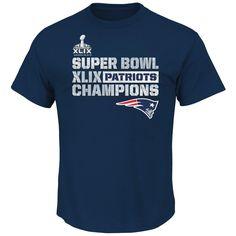 Amazon.com: 2015 NFL Super Bowl XLIX Champion New England Patriots Men's T-Shirt: Clothing