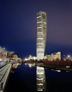Turning Torso Tower, Malmö, Sweden.