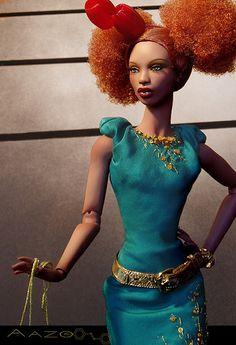 I rock ruff n stuff with my afro puffs African Dolls, African American Dolls, Diva Dolls, Dolls Dolls, Bjd, Creepy, Pelo Natural, Beautiful Barbie Dolls, Black Barbie
