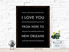 I Love You From Here To NEW ORLEANS art print