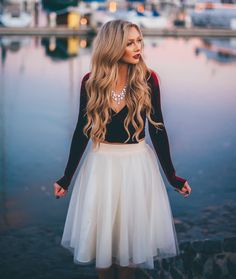 The Ashley - love this skirt paired with a velver top. Is especially cute with a lace long sleeve too.