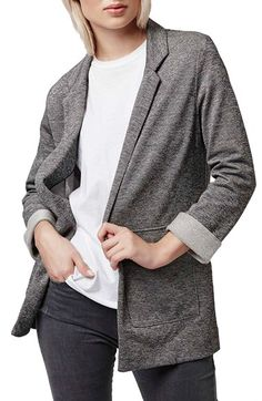 Topshop Topshop Twill Jersey Boyfriend Jacket available at #Nordstrom
