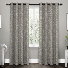 ATI Home Kilberry Woven Blackout Grommet Top Window Curtain Panel Pair