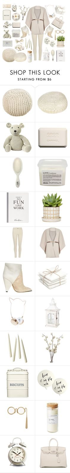 """""""Be natural"""" by treintaycool ❤ liked on Polyvore featuring Surya, Pure Lana, Anne-Claire Petit, Chanel, Hostess, The Wet Brush, Davines, Selfridges, River Island and IRO"""
