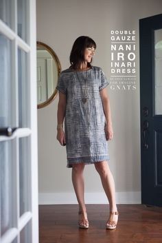 sewing: double gauze inari tee dress