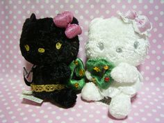 Devil & Angel HELLO KITTY Xmas Ver. Plush Doll Sanrio JAPAN 2007