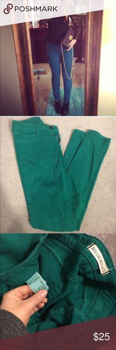 Green Skinny Jeans Green Skinny denim leggings. Size Three, option was not available. Bullhead Pants Skinny