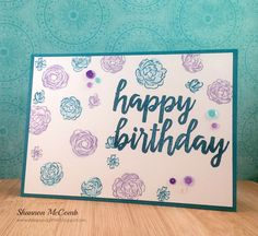 Happy Birthday floral card featuring My Favorite Things