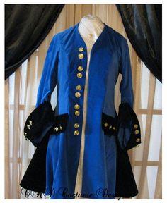 """Blue Lady "" Lady's Pirate-Captian Coat,Jacket,for Halloween Dress up | eBay"