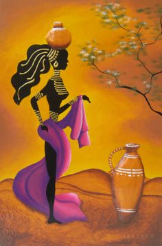 Representación de una africana, pintura decorativa http://aracelyasmine.blogspot.com/2014/02/cuadro-africano-pintura-decorativa.html#more