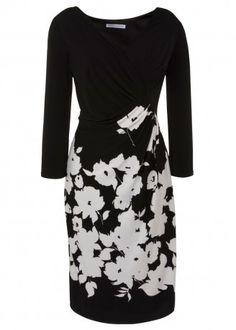 Gina Bacconi Monochrome Jersey Dress in Floral Print£190.00