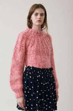 The Julliard Mohair Bow Pullover, Sea Pink