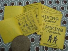 Hiking Journal/Trail Bingo.  Cute idea for a hiking party.
